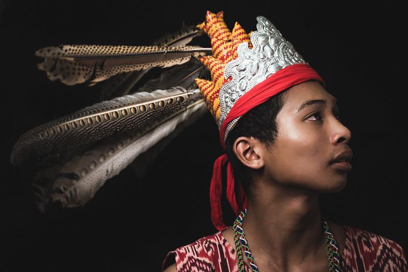 Jibin with Iban head gear
