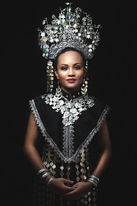 Angel in Orang Iban costume