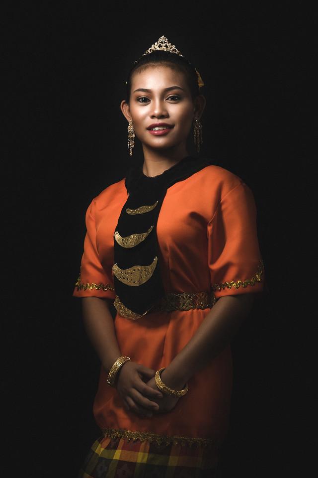Diana in Melanau costume