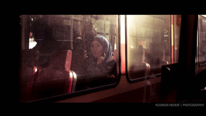 Tram seat 004 - Blue scarf