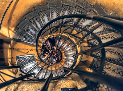 Stairs-in-the-Arc-De-Triomph-down