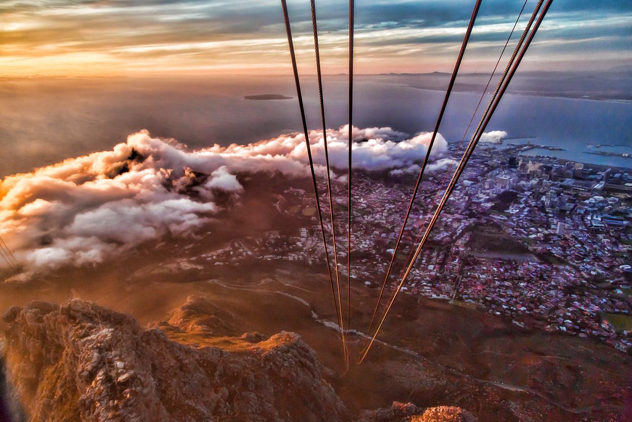Sundown over Cape Town -2