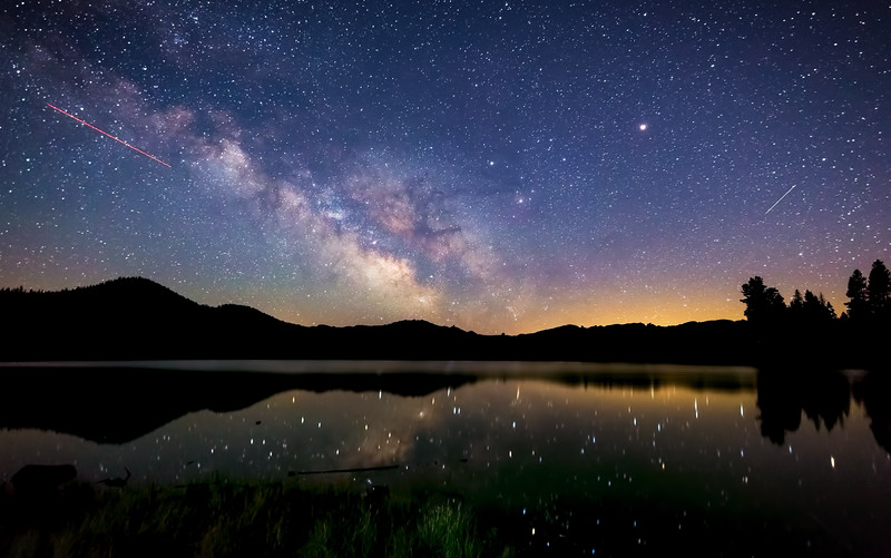 Milky Way over Butte Lake