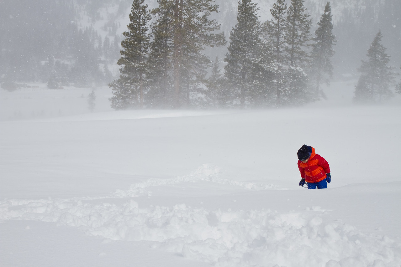 Snowstorm in Squaw Valley