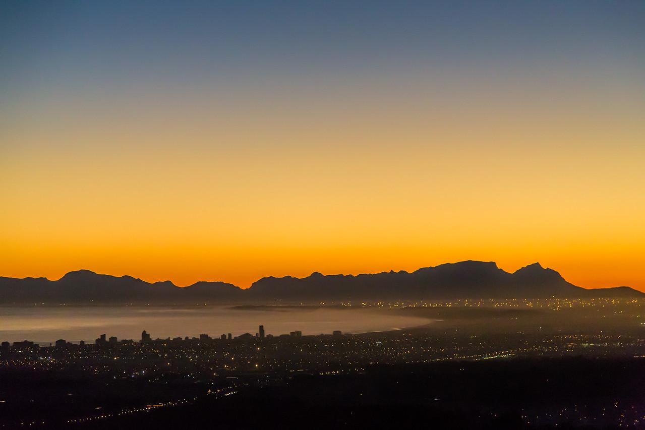 Sundown at Summerset West, Cape Town