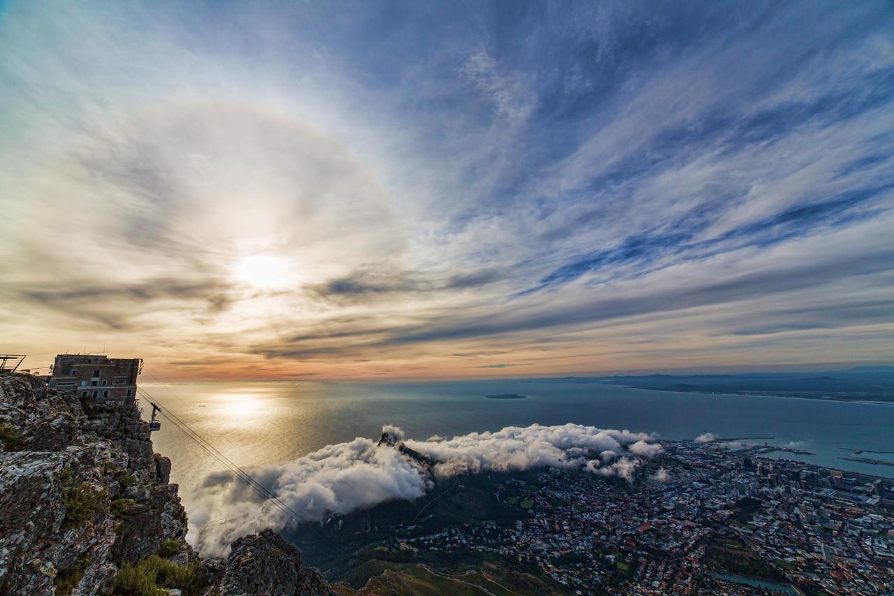 Sundown over Cape Town