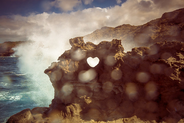 Stone Carved Heart, Maui