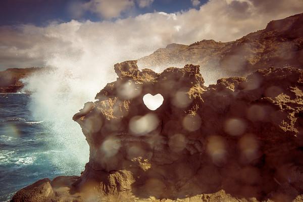 Stone Carved Heart, Maui
