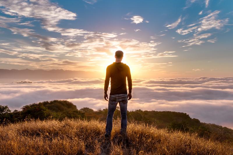 Dawn above Los Angeles