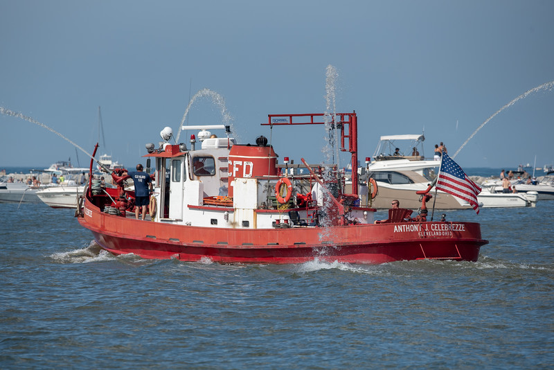 Fire Boat on the River