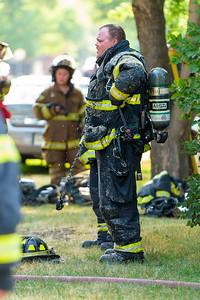 Litchfield Fire Dept at House Fire