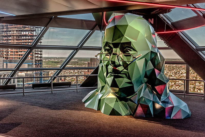 Ben Franklin Sculpture, Philly View View