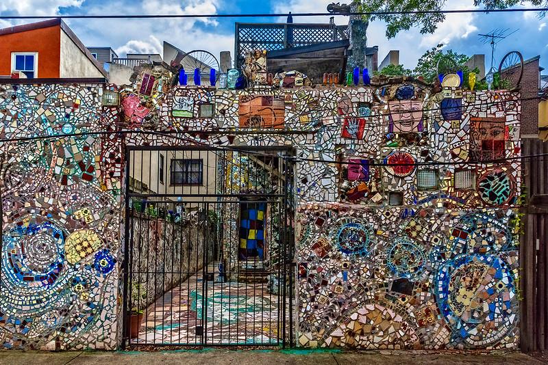 Gated Backyard Mosaic Wall