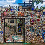 Gated Backyard Mosaic Wall