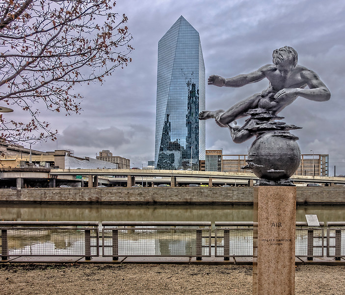 "Cira Centre, Schuylkill River, ""Air"" Sculpture"