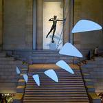 Statue of Diane Sculpture & Calder Mobile