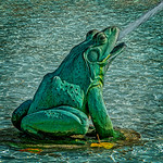 Logan Circle Fountain Frog