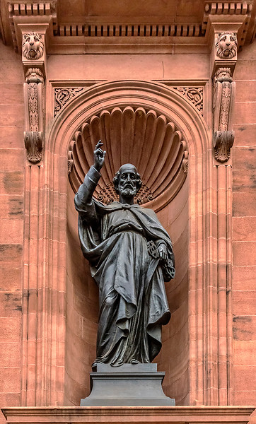 Statue of Saint Paul at the Cathedral Basilica of Saints Peter and Paul, Philadelphia
