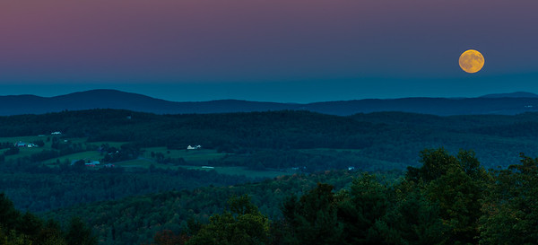 Supermoon Rises over Jericho Road Farms