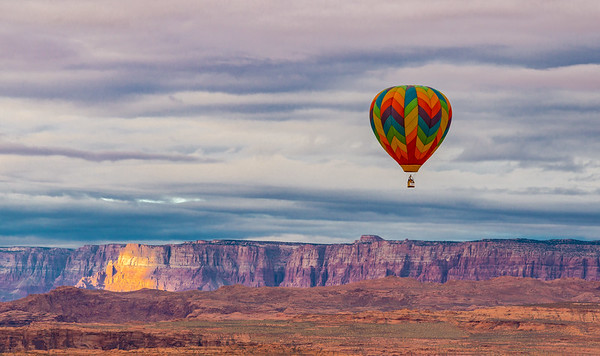 Ballon and Vermillion Cliffs at Sunrise