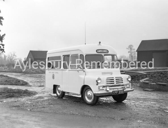New Ambulance in Dunsham Lane, Jan 1957