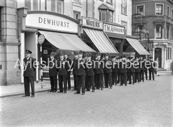 Police at Mayor's Sunday Parade, Market Square, May 30th 1954