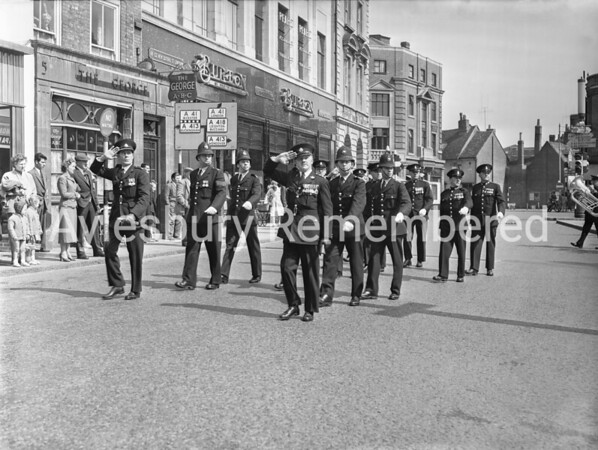 Police at Mayor's Sunday Parade in Market Square, May 26th 1957
