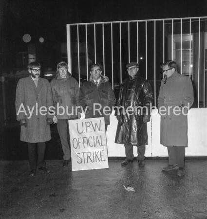 U.P.W. strike at Royal Mail depot, Jan 18th 1971