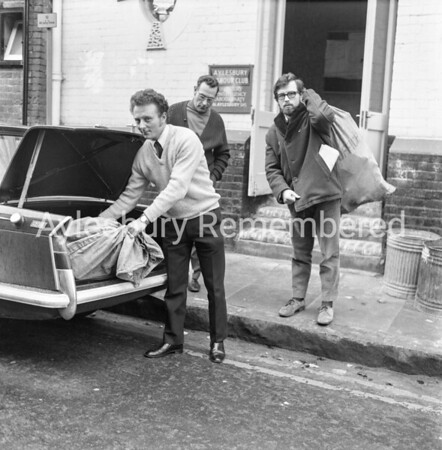 Volunteer postmen at Labour Club in New Street, Jan 25th 1971