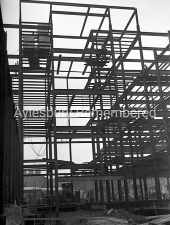 Construction of Telephone Exchange, Oct 12th 1953