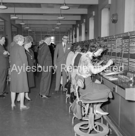 Mayor Maurice Buckingham at Telephone Exchange, Apr 22nd 1963