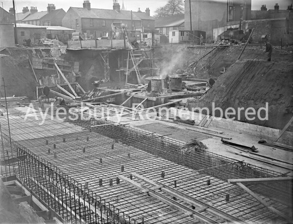 Construction of Telephone Exchange, Mar 6th 1953