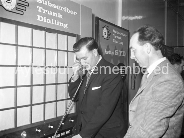 Mayor Thomas Hutchison at Telephone Exchange, 1961