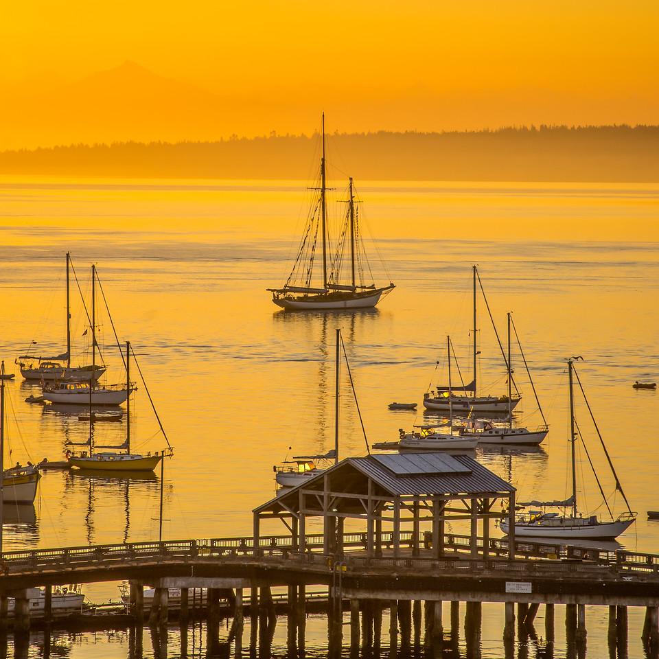 Wooden Boat Sunrise