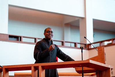 Rev. Chauncey Harrison preaches at Zion Baptist Church at 3600 N Broad Street in North Philadelphia Sunday, August 18, 2019. The congregation gathered Sunday morning only two blocks from the site of a standoff between police and a gunman on the 3700 block of N 15th St. Wednesday evening.