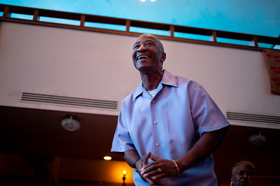 Michael Tucker praises during worship at Zion Baptist Church at 3600 N Broad Street in North Philadelphia Sunday, August 18, 2019. The congregation gathered Sunday morning only two blocks from the site of a standoff between police and a gunman on the 3700 block of N 15th St. Wednesday evening.