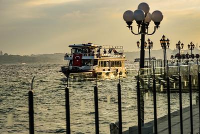 Ferry on the Bosporus Sea
