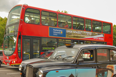 Classic double decker red bus
