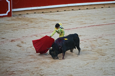 Juan del Álamo Passes the Bull Closely
