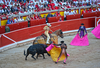 The Bull Is Drawn Away from the Picador and His Horse