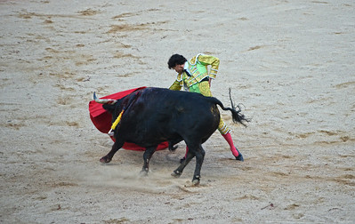 The Bull Sweeps Past Juan del Álamo