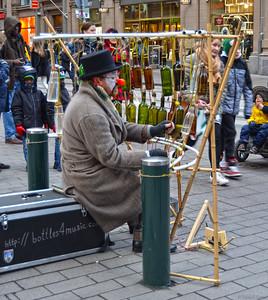 Russian Street Musician -- Feodor Grigorev -- Entertains on Aleksanterinkatu