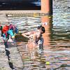 A Hindu Bathes in the Godavari River