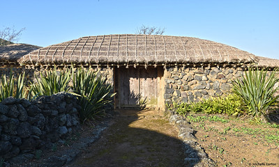 Traditional Korean Thatched Roof Home