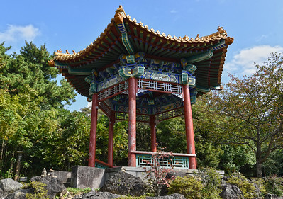 A Traditional Gazebo in Seobok Park