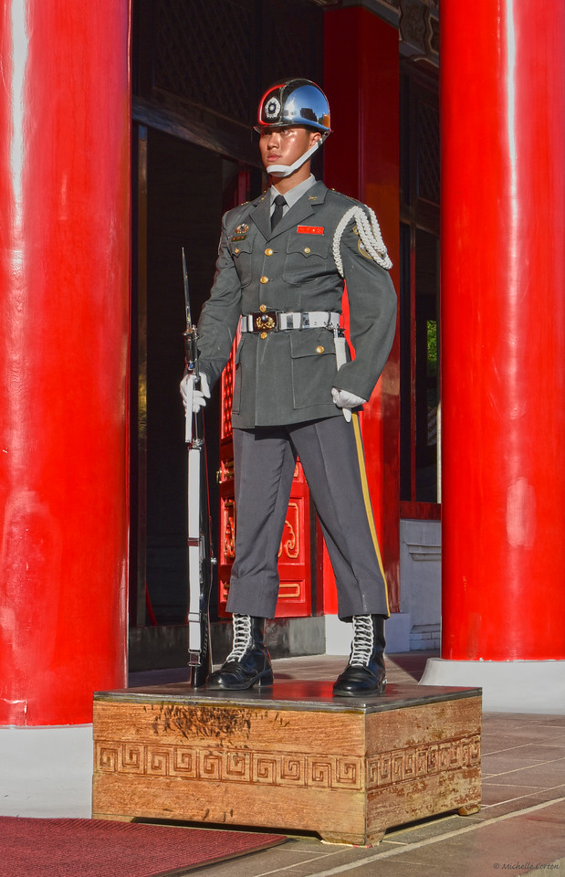 Soldier at the National Revolutionary Martyrs' Shrine