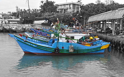 Fishing Boats in Fugang Fishery Harbor