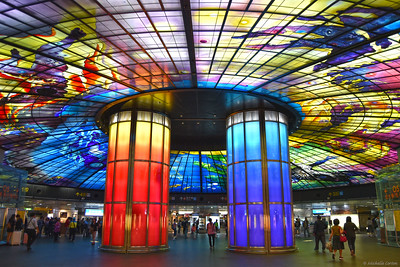 "The ""Dome of Light"" at the Formosa Boulevard Station"