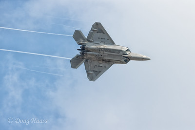 F22 Raptor coming right over the top of us, Sunday afternoon 10/11/2020.