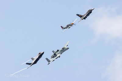 Heritage Flight with F35A, A10 Warthog, P51 Mustang and F16 Viper, Sunday 10/11/2020.